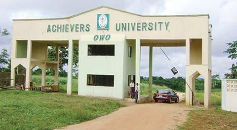 Achievers University disclaimer notice