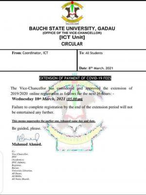 BASUG extends online registration and Covid-19 fee payment for 2019/2020 session