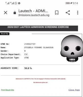 LAUTECH Post-UTME screening result 2020/2021 session