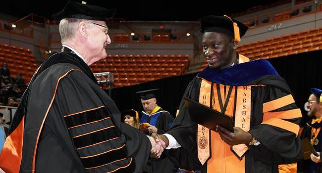 EKSU Graduate Receives Highest Honour Awarded to a Graduating PhD Student in US