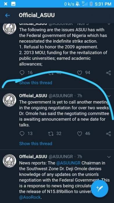 ASUU Strike Update Day 58: ASUU Denies Payment Of 15.89 Billion Naira