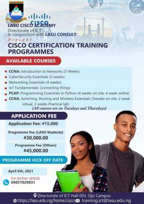 LASU directorate of ICT begins CISCO certification training