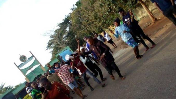 Osun State COE students protest over lecturers strike action