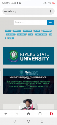 RSUST notice on commencement of 2nd semester exam, 2019/2020