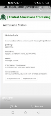 FUDUTSE admission list, 2020/2021 out on JAMB CAPS