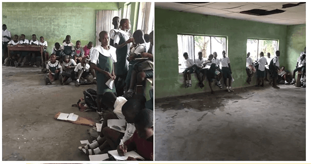 Corps Member Exposes Poor Condition of Government School in Delta state