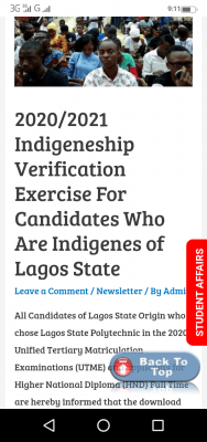 LASPOTECH issues notice on 2020/2021 verification exercise for indigenes