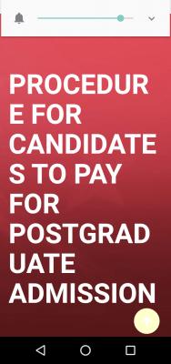 EKSU procedure for payment of postgraduate application fee