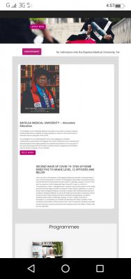 Bayelsa Medical University notice to staff and students on resumption