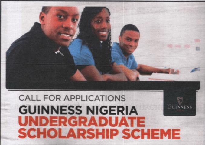 Guinness Nigeria Scholarship Scheme For Nigerians 2019