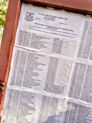 Ramat Polytechnic 1st batch ND Admission List, 2020/2021