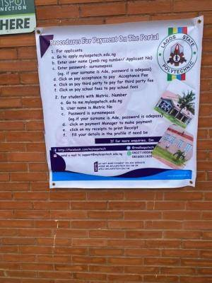 LASPOTECH procedure for payment of fees via the school portal
