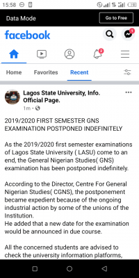 LASU postpones 1st semester GNS exam for 2019/2020 session