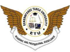 Eckernforde Tanga University Application Form