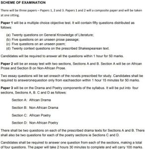 WAEC Literature  In English Questions And Answers-O