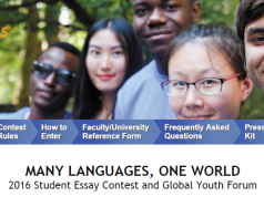2017 Many Languages, One World® Student Essay Contest