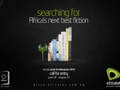 Call For Entries : £15,000 Etisalat Prize For Literature - 2017
