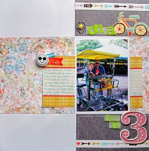 Bicycle Built  for 3 by Christy Strickler for My Scrapbook Evolution