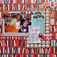 Budget Scrapbooking: Using Both Sides with a Quick Design