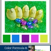 Color Formula 8: Marshmellow Peeps- crafty color palette