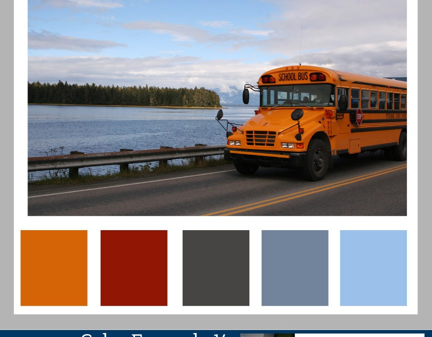 Color Formula 14: Yellow School Bus Days-color palette