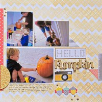 Scrapbook Tip: Big Titles, Small Spaces