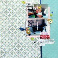Scrapbook Challenges with Old, Blurry Photos