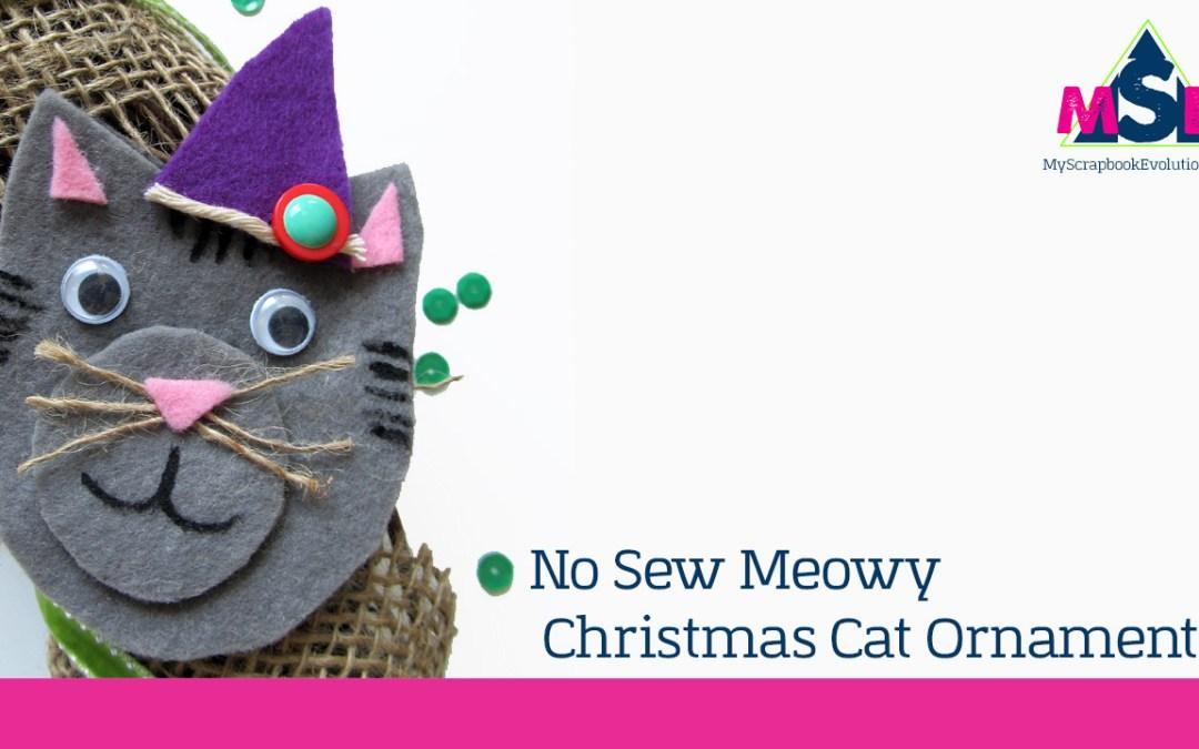No Sew Meowy Christmas Cat Ornaments: Handmade Holidays Blog Hop 2016 #HandmadeHolidays2016