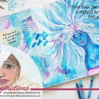 Trust Your Secrets to a Mermaid:  a Hybrid Art Journal  Page Process Video #DualImaginations