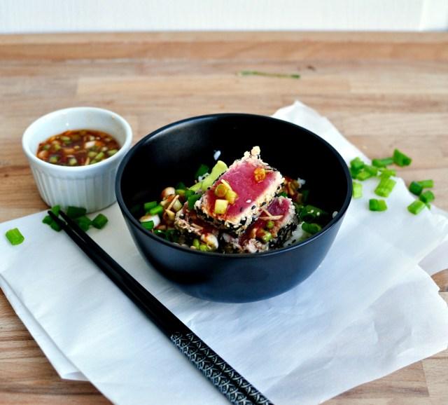 Sesame Seared Tuna Bowl Recipe