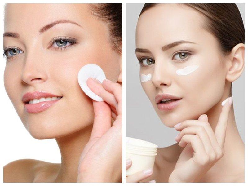 Preparação de rosto para maquiagem