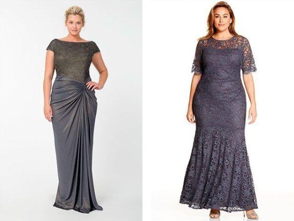 Вечерние платья для полных женщин 2018 фото