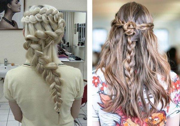 Косы на длинные волосы своими руками фото пошагово