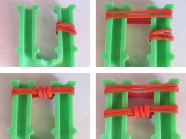 الأرقام المصنوعة من المطاط: النسيج على مقلاع وآلة