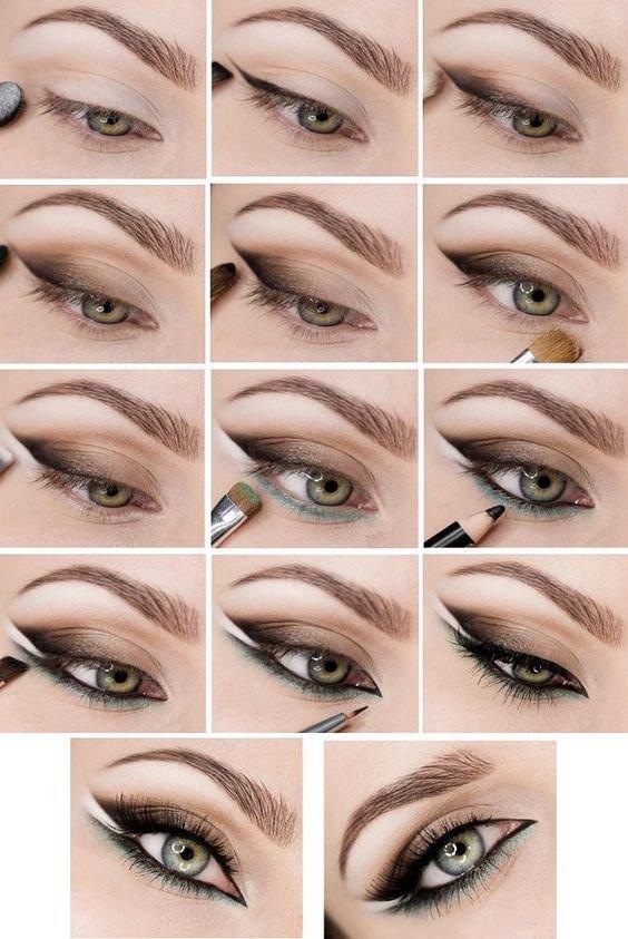 Вечерний макияж для зеленых глаз: пошаговое фото с описанием