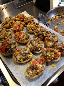 stuffed potato skins before