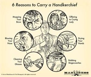 Art Manliness handkerchief