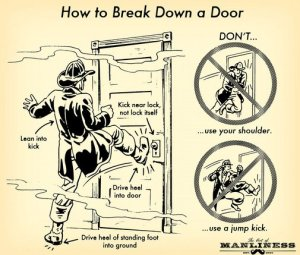 art manliness break door