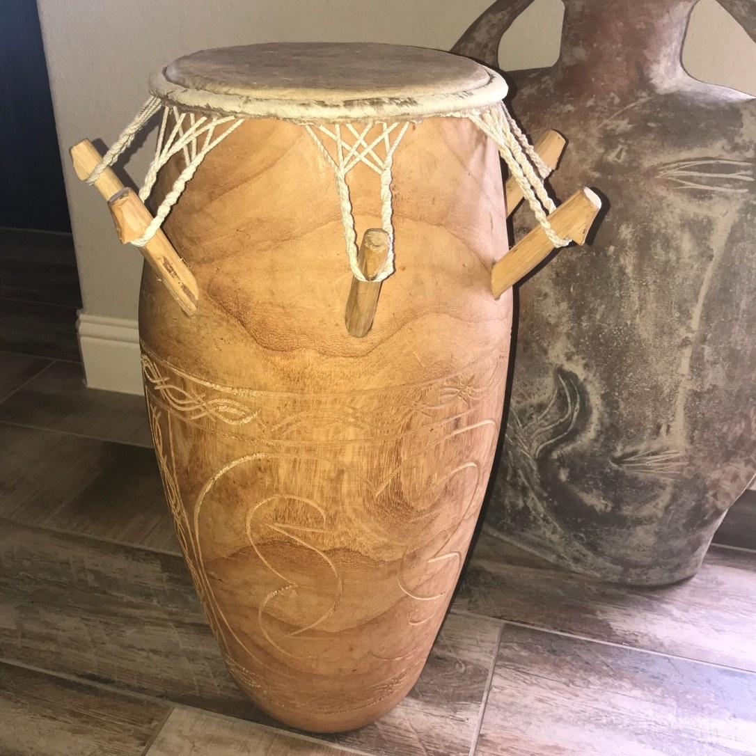 My handmade African drum