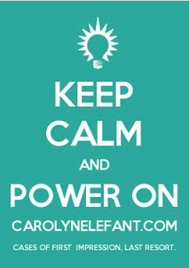 Keep Calm and Power On CarolynElefant.com