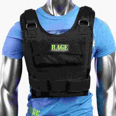 Rage Fitness Adjustable Weighted Fitness Training Vest 1