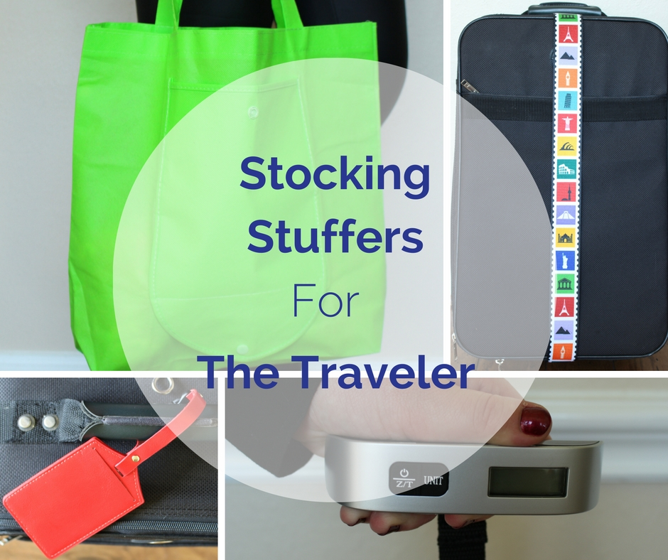 Stocking Stuffers for the Traveler | Luggage scale, tags, strap and folding tote | Part of Christmas Stocking Stuffer Giveaway hosted by Sweet Tea and Saving Grace Contributor Team