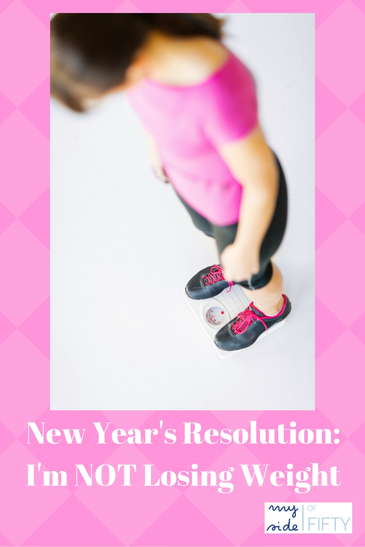 New Year's Resolution: I'm Not Losing Weight | ht. Blogger Cathy Lawdanski's decision to NOT participate in diets, plans or challenges and to re-focus her efforts on good health and self-acceptance.