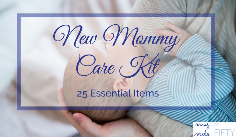 The New Mommy Care Kit - 25 Essential Items for Post-Partum Pampering & Recovery. Items to ease her sore bottom, support nursing and other nice-to-have items for those first few weeks post-partum. The perf