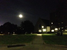 The Moon rising over Whitman