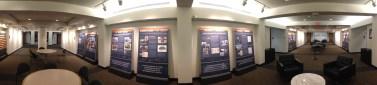 Exhibit on Woodrow Wilson in the basement of Robertson Hall
