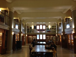 The study room in the main lobby