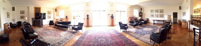 Living room in Fuld Hall