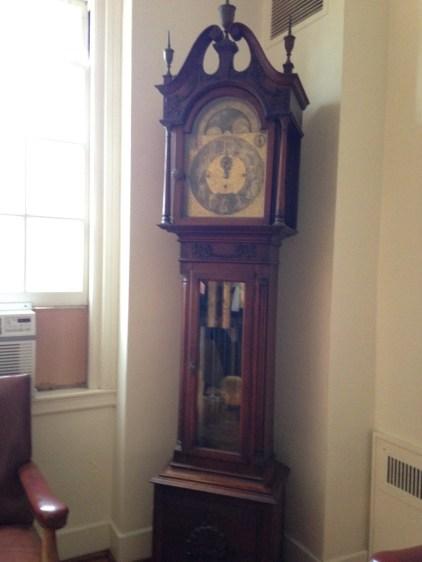 Clock in Fuld Hall