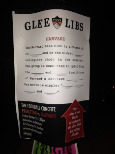 An advertisement for the annual Princeton vs. Harvard glee club competition